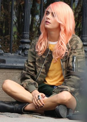 Cara Delevingne Filming 'Life in a Year' set in Toronto