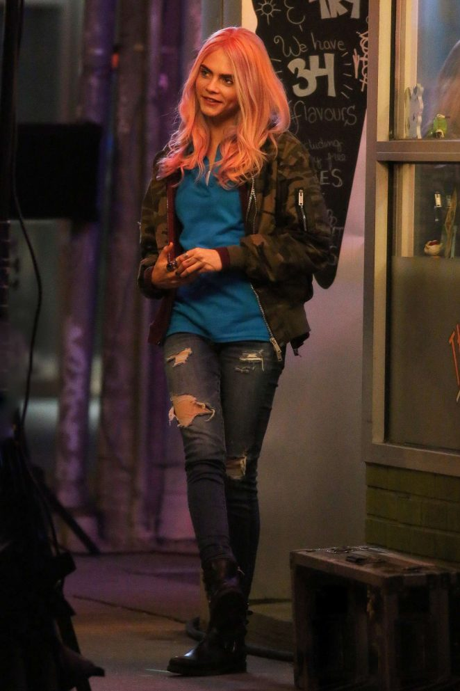 Cara Delevingne Filming of 'Life in a Year' in Toronto