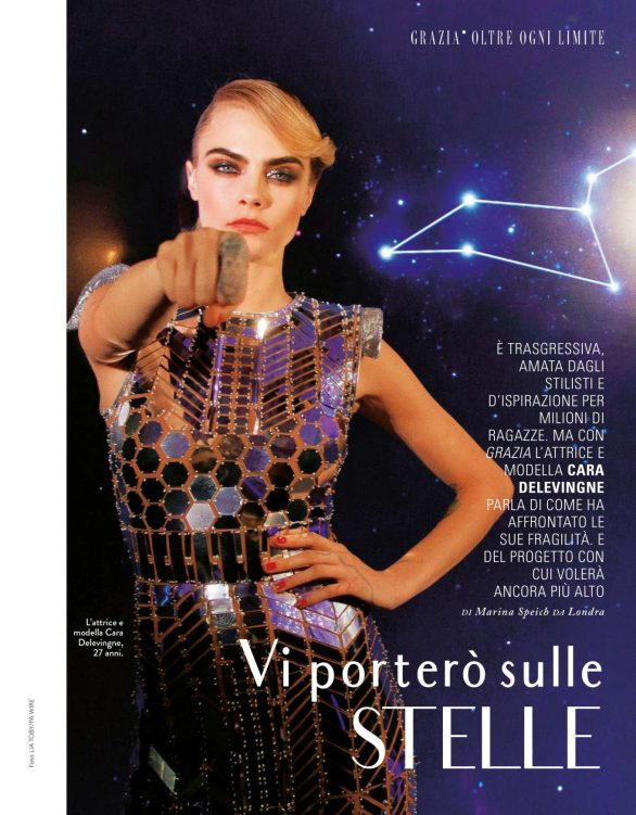 Cara Delevingne - Grazia Italy Magazine (November 2019)