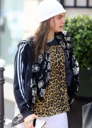 Cara Delevingne - Heading To Valerian Set in Paris