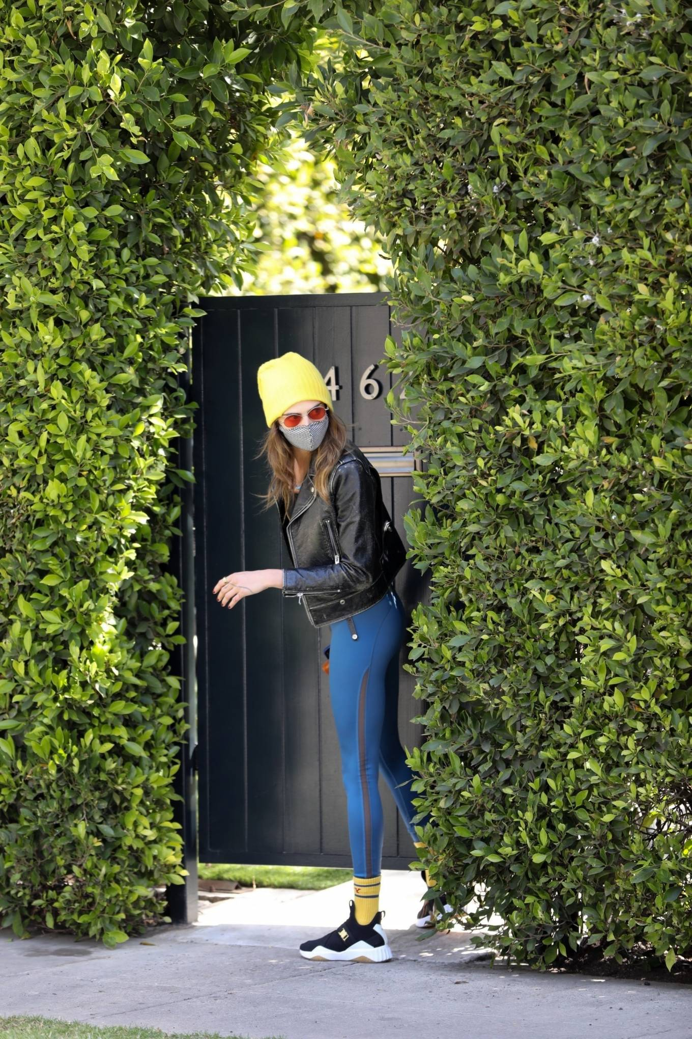 Cara Delevingne 2021 : Cara Delevingne – In a skinny jeans and leather jacket in West Hollywood-02