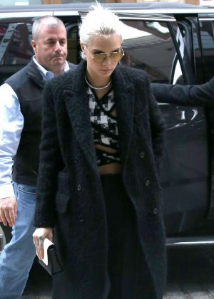 Cara Delevingne in Black Coat Out in New York