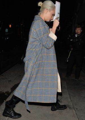 Cara Delevingne in Long Coat out in London