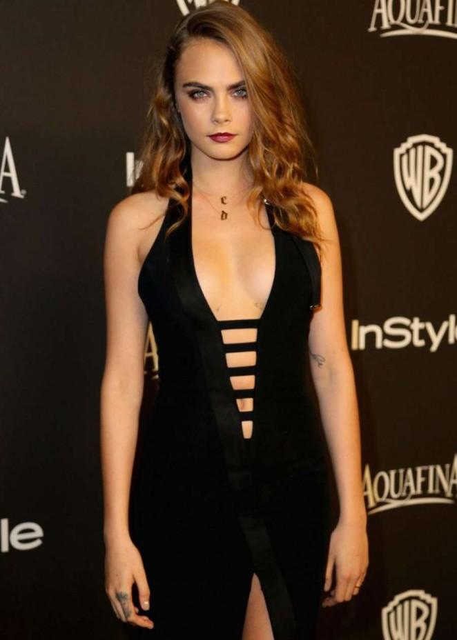 Cara Delevingne - InStyle And Warner Bros Golden Globes Party 2015 in Beverly Hills