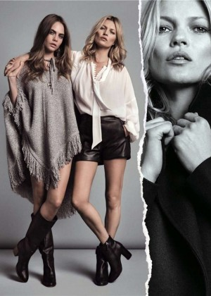Cara Delevingne and Kate Moss - Mango (Fall/Winter 2015-2016)