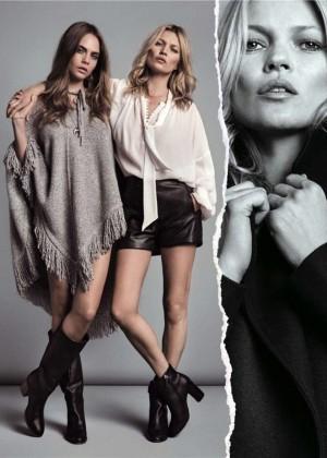Cara Delevingne and Kate Moss - Mango (Fall/Winter 2015-2016)