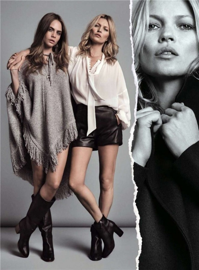 Cara Delevingne & Kate Moss – Mango (Fall/Winter 2015-2016)
