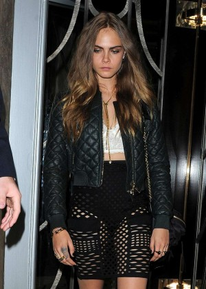 Cara Delevingne - Leaving Claridges Hotel in London