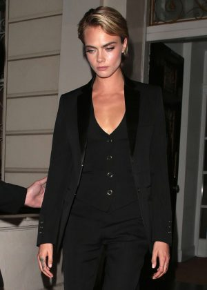 Cara Delevingne - Leaving the launch of a new fragrance Burberry 'Her' in London