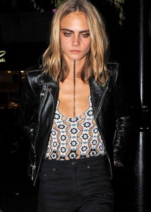 Cara Delevingne - Love Magazine Party at Lou Lou's in London