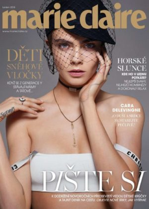 Cara Delevingne - Marie Claire Czech Republic Cover (January 2018)