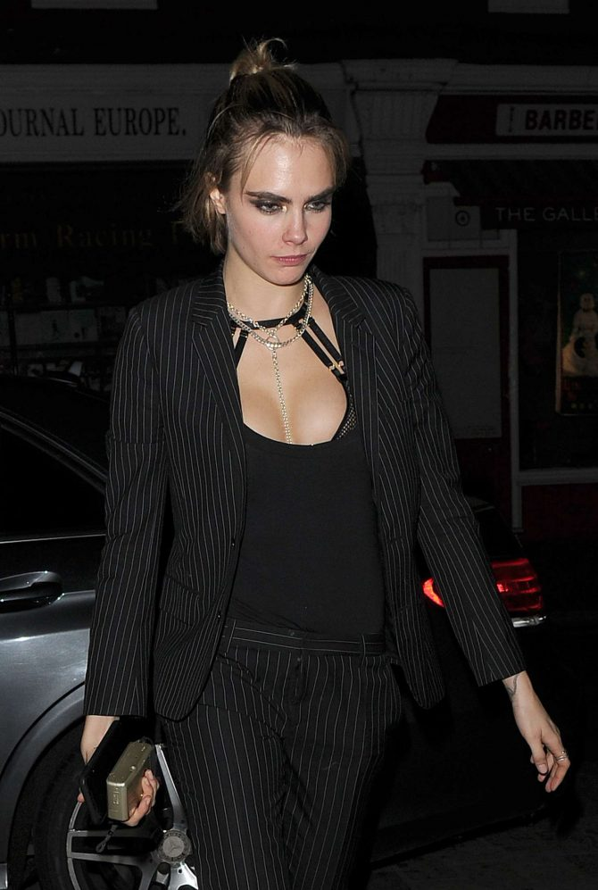 Cara Delevingne - Night out at Chiltern Firehouse in Notting Hill