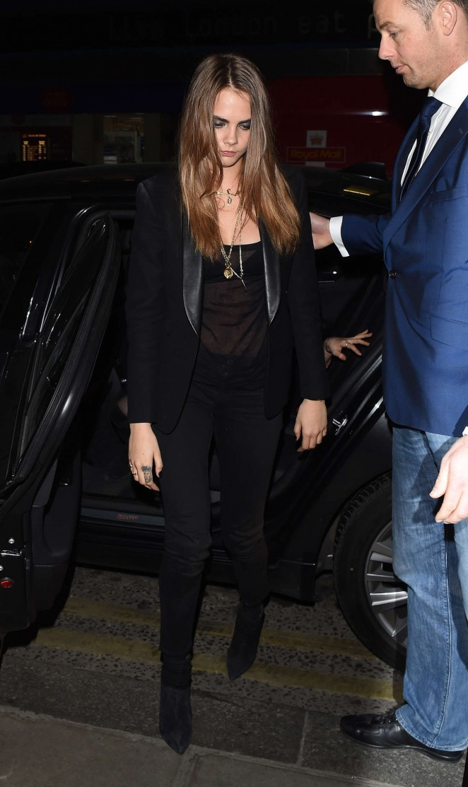 Cara Delevingne Night Out in London -07