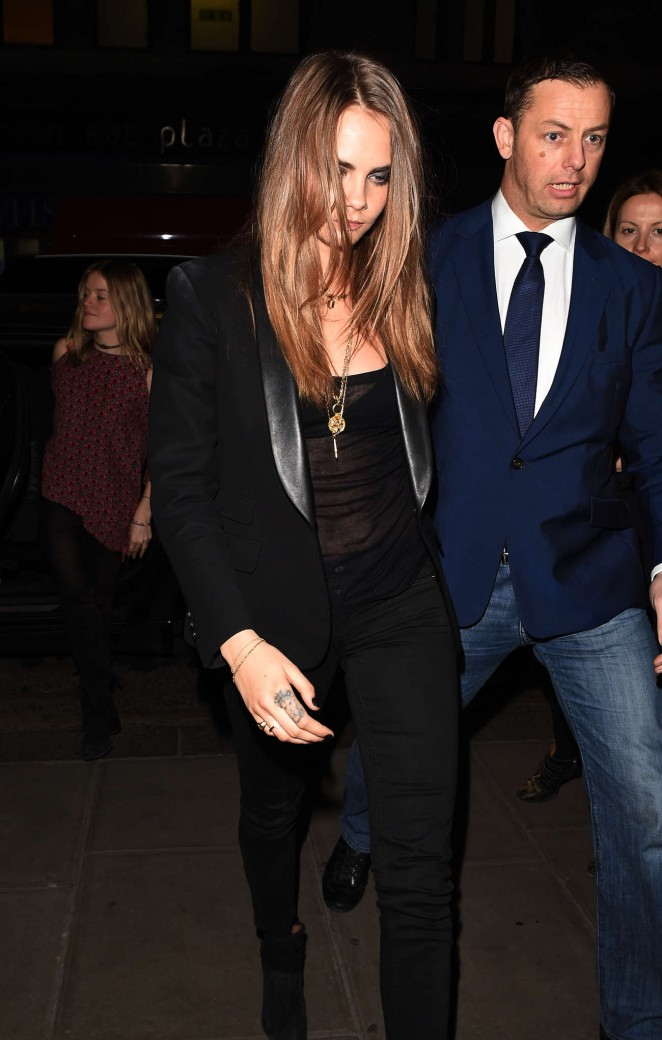 Cara Delevingne Night Out in London -13