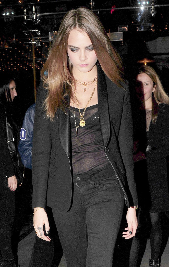 Cara Delevingne Night Out in London -16