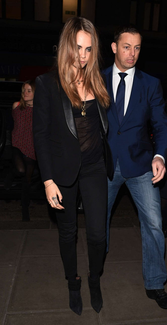 Cara Delevingne Night Out in London -18