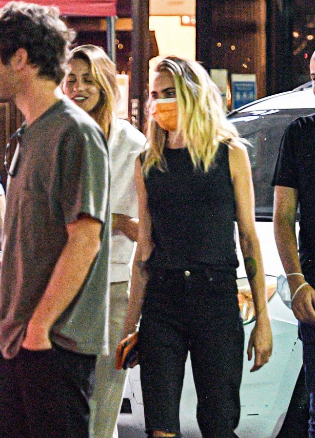 Cara Delevingne - On a Sushi dinner date with a mystery lady in Los Angeles