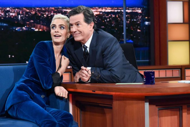 Cara Delevingne on 'The Late Show with Stephen Colbert' in New York