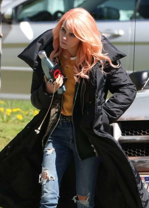 Cara Delevingne on the set of 'Life in a Year' in Toronto