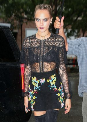 Cara Delevingne - Out and about in New York City
