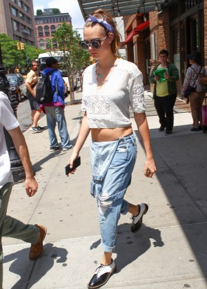Cara Delevingne in Jeans out in NYC
