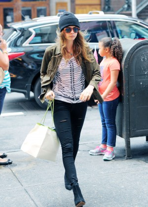 Cara Delevingne in Tight Jeans out in NYC