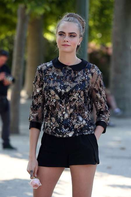 Cara Delevingne Out in Paris