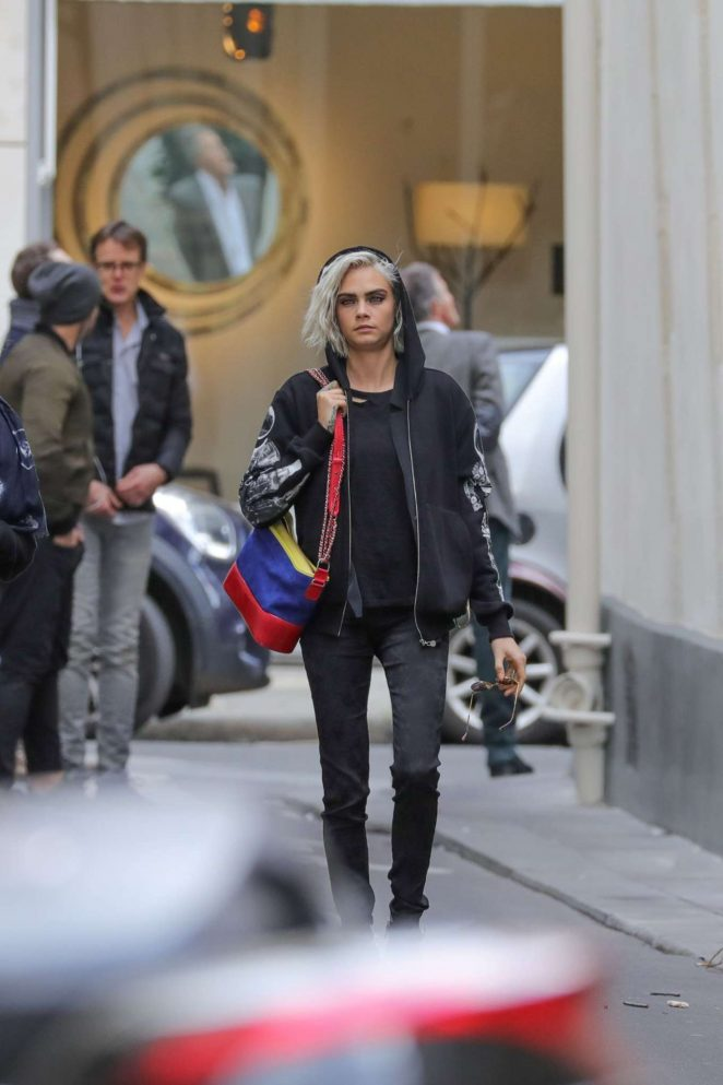 Cara Delevingne out in Paris