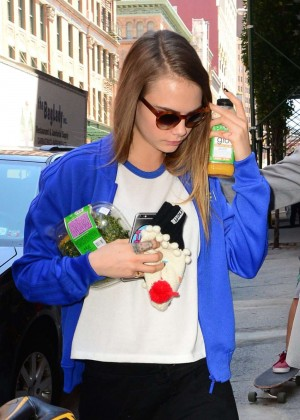 Cara Delevingne Out in Soho