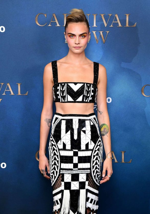 Cara Delevingne - Screening of Carnival Row at Ham Yard Hotel in London