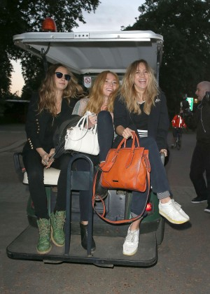 Cara Delevingne, Suki Waterhouse & Clara Paget - British Summer Time in Hyde Park