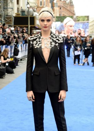 Cara Delevingne - 'Valerian and the City of a Thousand Planets' Premiere in London
