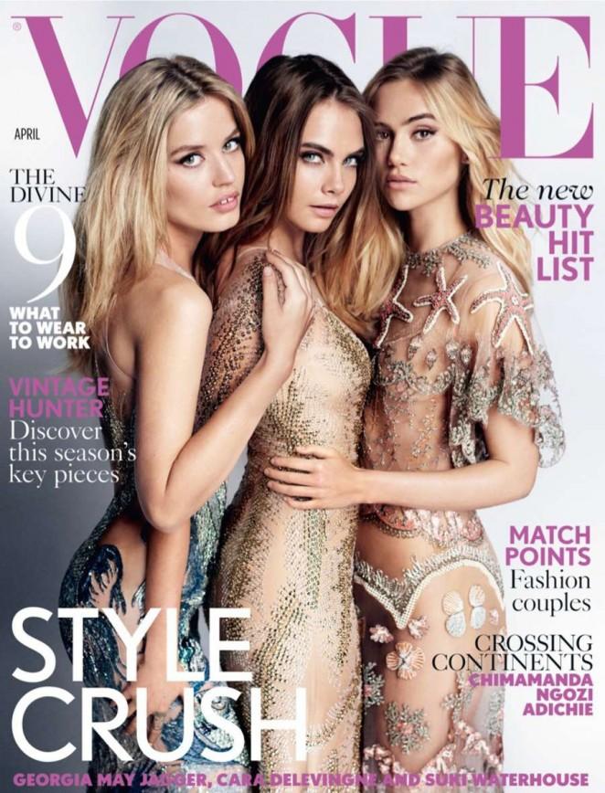 Cara Delevingne - Vogue UK Cover (April 2015)