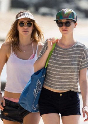 Cara Delevingne with Annie Clark and Suki Waterhouse: on the beach in Barbados-56
