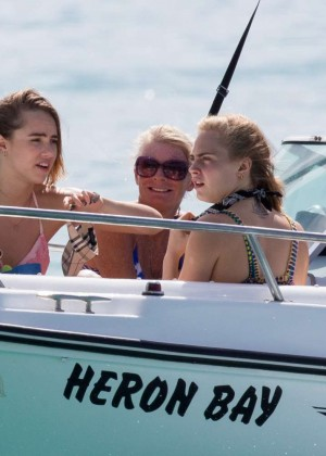 Cara Delevingne with Annie Clark and Suki Waterhouse: on the beach in Barbados-65