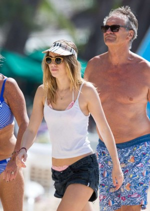 Cara Delevingne with Annie Clark and Suki Waterhouse: on the beach in Barbados-67
