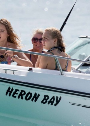 Cara Delevingne with Annie Clark and Suki Waterhouse: on the beach in Barbados-70