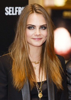 Cara Delevingne - YSL Loves Your Lips Launch in London