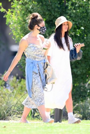 Cara Santana and Ashley Greene - Out in Beverly Hills Park