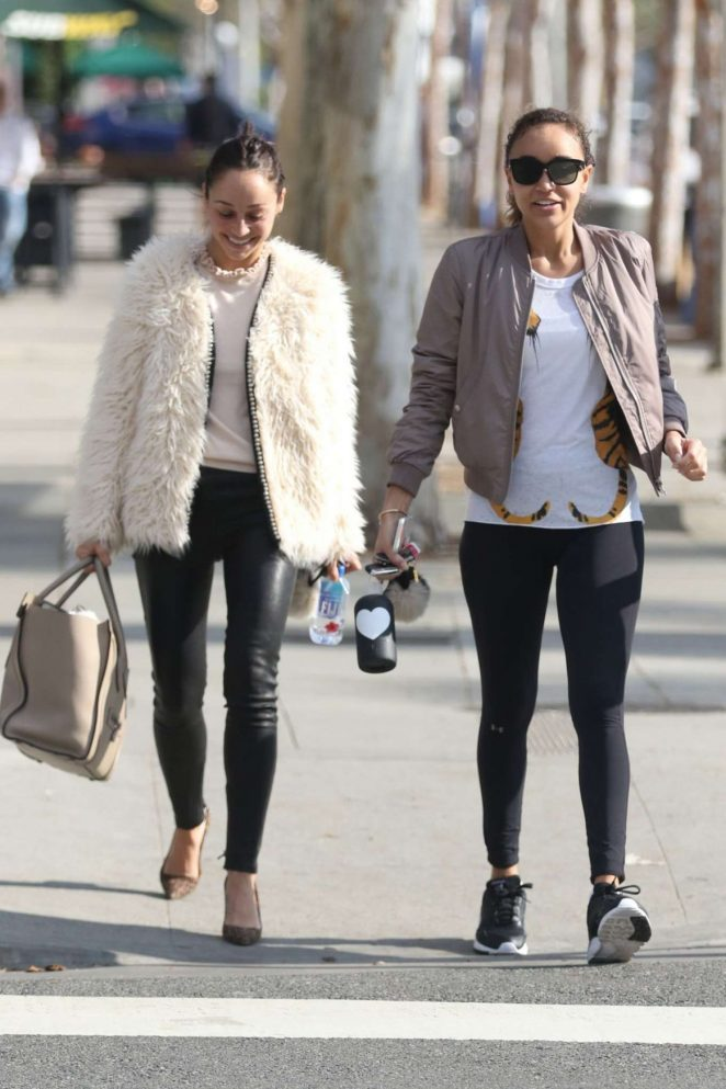 Cara Santana and Ashley Madekwe Out in Beverly Hills