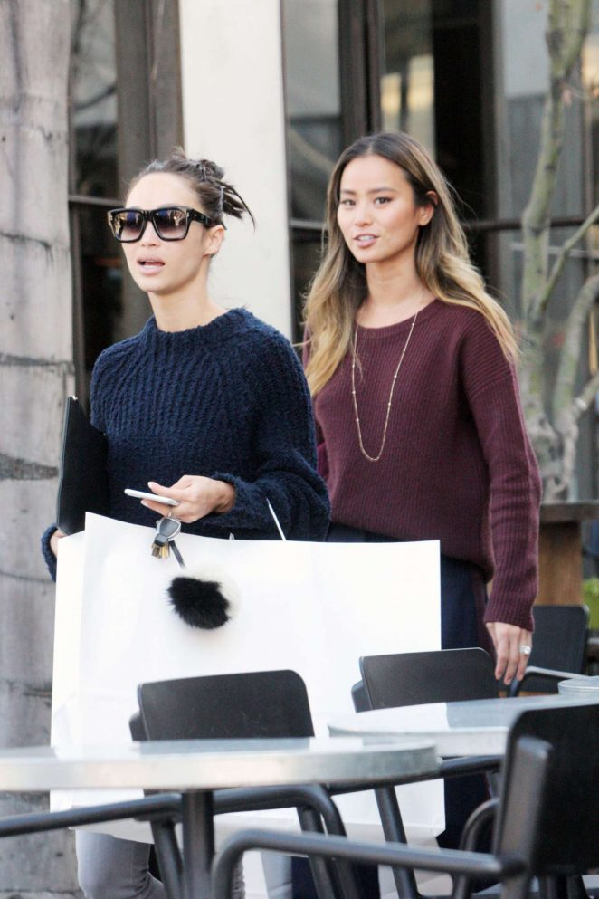 Cara Santana and Jamie Chung out for lunch in West Hollywood