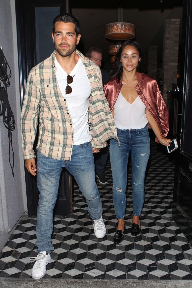 Cara Santana and Jesse Metcalfe at Craig's in West Hollywood