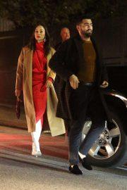 Cara Santana and Jesse Metcalfe at Seth MacFarlane's holiday party in LA