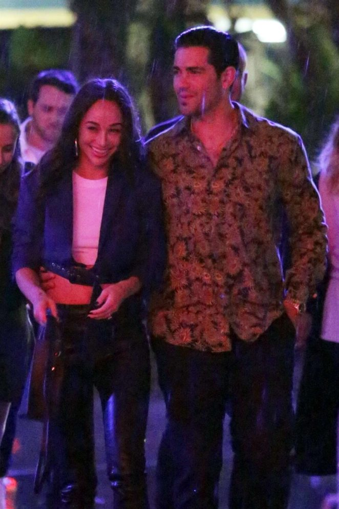Cara Santana and Jesse Metcalfe at the Aubrey & the Three Migos concert in LA