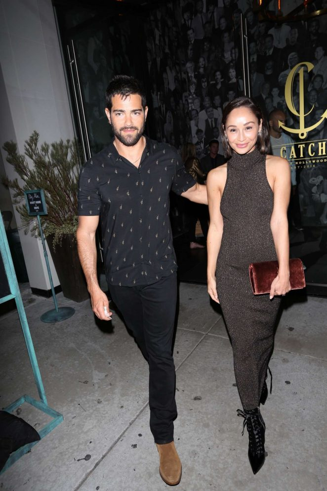 Cara Santana and Jessie Metcalfe Leaves Catch LA in West Hollywood