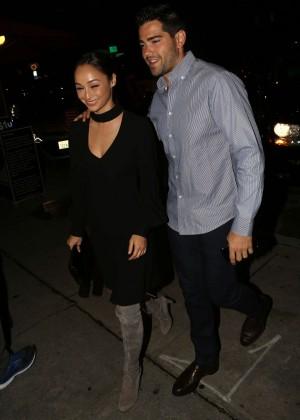 Cara Santana Arrives at Craig's Restaurant in West Hollywood