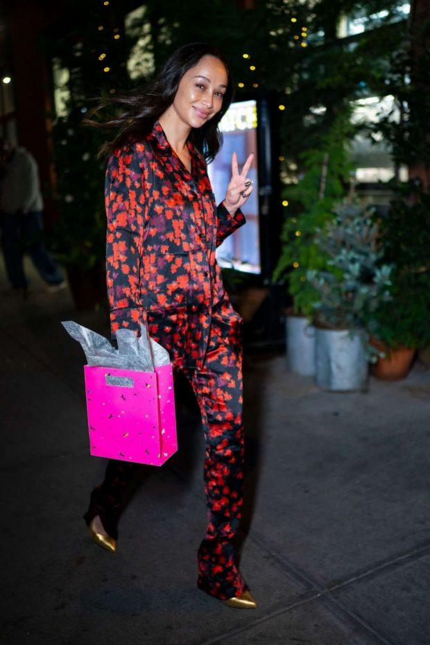 Cara Santana - Arriving at Olivia Culpo's 27th birthday in NYC
