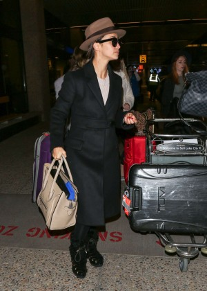 Cara Santana - Arriving at SLC Airport for Sundance Film Festival