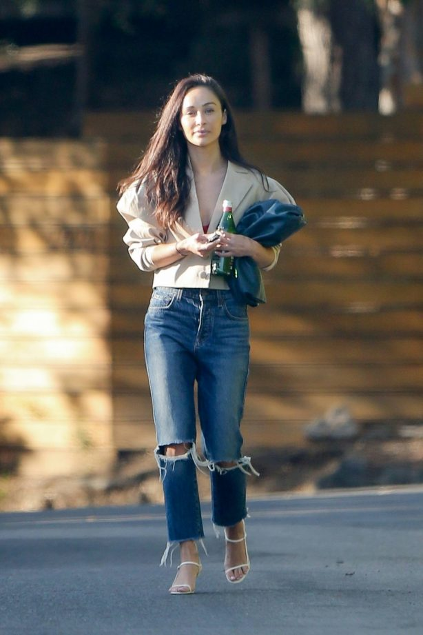 Cara Santana - Heads out from a friend's house in Los Angeles