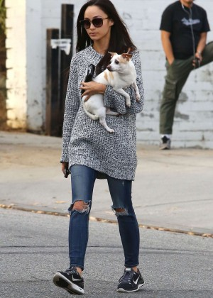 Cara Santana - Heads to a pet store in LA